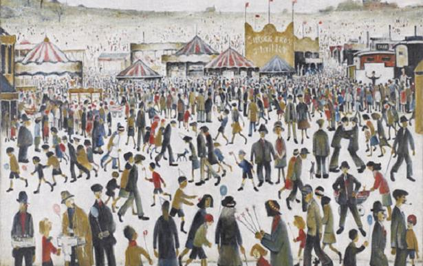 Image: L S Lowry. Lancashire Fair. Good Friday. Daisy Nook . 1946. Oil on canvas; 72 x 92 cm © The Estate of L S Lowry, 2010/courtesy of the UK Government Art Collection