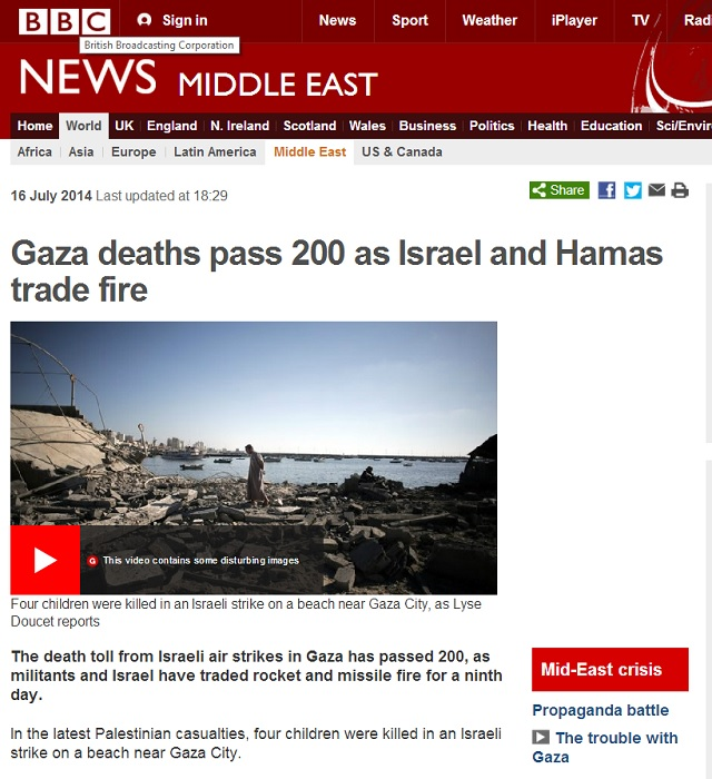 BBC - Gaza children
