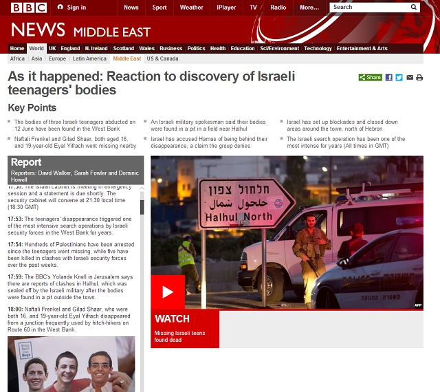 BBC Israeli victim