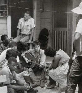 SNCC at the Highlander School, visited by Bob Dylan
