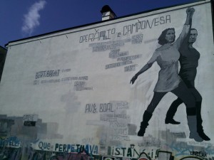 A mural homage to Boal and Brecht, Porto, Portugal. (Source: Flickr)