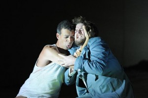 Allan Clayton and Roderick Williams as Castor and Pollux, performed by The English National Opera at The London Coliseum - Photo Credit: Alastiar Muir