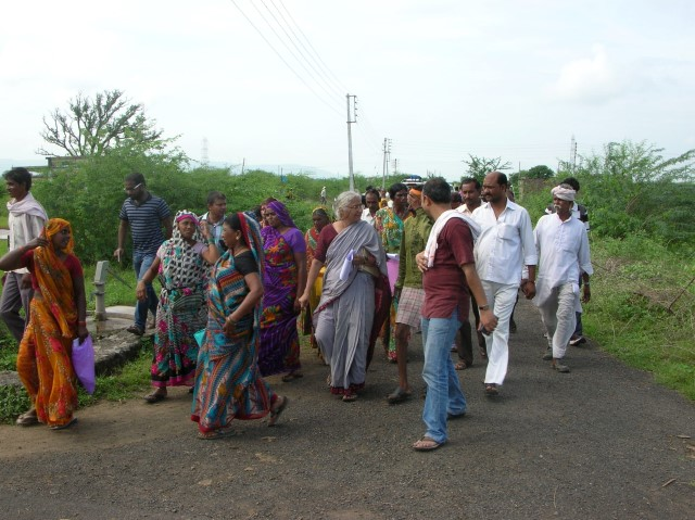 Walk to successfully gained land for land rehabilitation site at Kargat