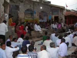 Meeting in village due to be submerged