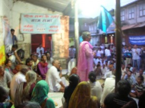 Meeting in affected village