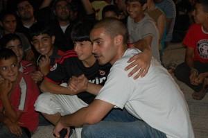 After a show in Gemal Abd al-Nasser Park, Nablus, Palestine