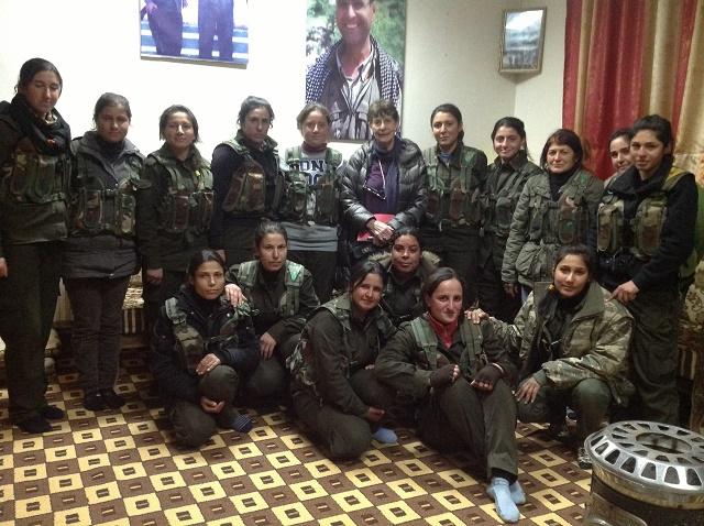 Margaret Owen in Rojava - Ceasefire Magazine