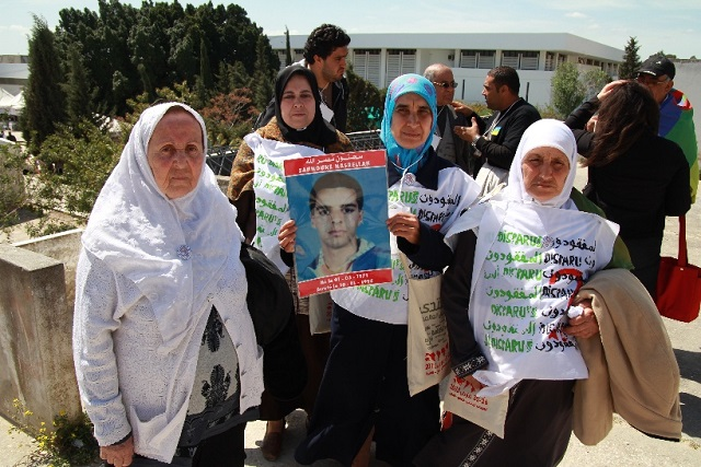Mothers of the disappeared, and representatives of SOS Disparus who managed to make the forum - Algerian Cultural Collective