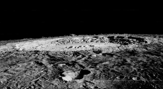 On the moon it is hard to breath and remain on a firm footing