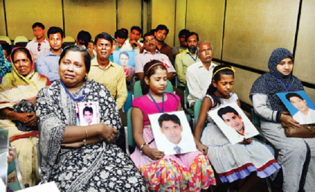 The missing picture at the Guardian: Families of the victims of state crimes, resulting from enforced disappearances and extrajudicial killings in Bangladesh. Dhaka, September 2014.
