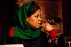 Wazima Frogh at Care NO conference on women's leadership in Peace negotiations.