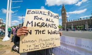 Protest in Westminster on 15 Jun 2015 against treatment of migrants at Yarl's Wood detention centre (Credit Image: © Velar Grant/ZUMA Press/Corbis)