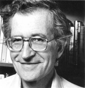 Noam Chomsky has been a vigorous champion of Anarcho-syndicalist ideals