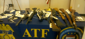 haul of weapons seized by the ATF